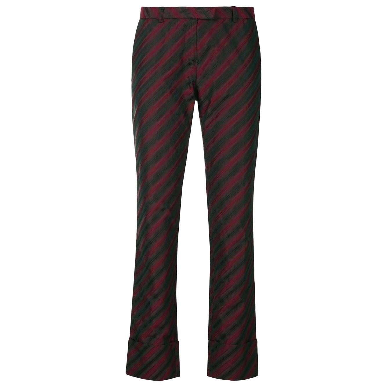2000s Romeo Gigli Striped Trousers