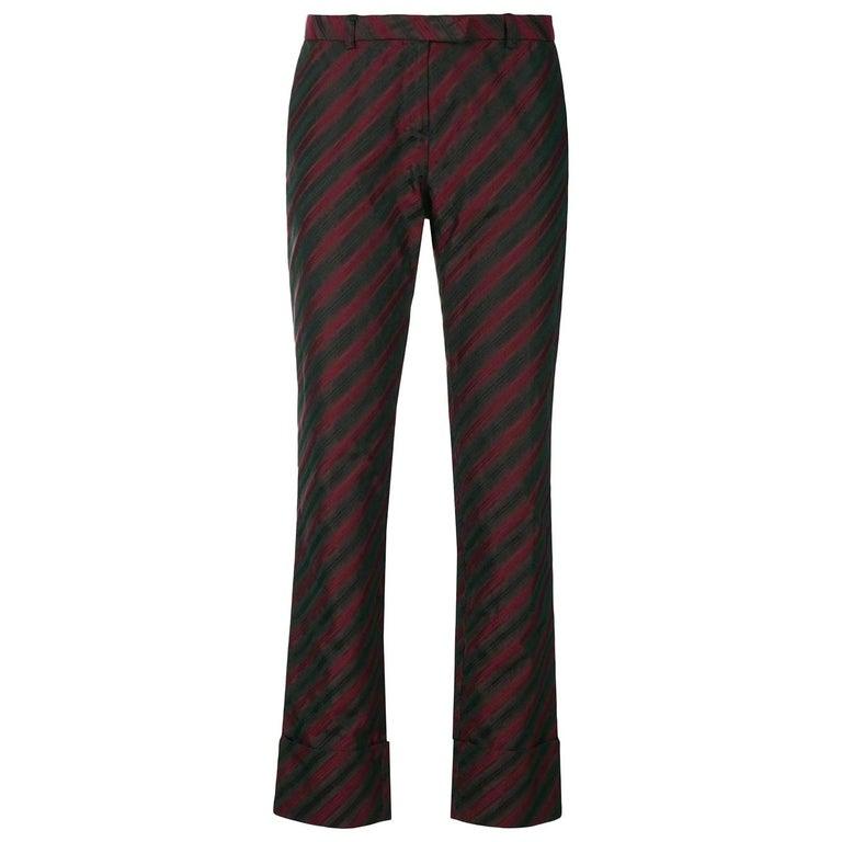 2000s Romeo Gigli Striped Trousers For Sale
