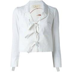 2000s Romeo Gigli White Cotton Jacket