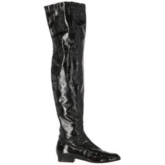 2000s Sergio Rossi Patent Leather Boots