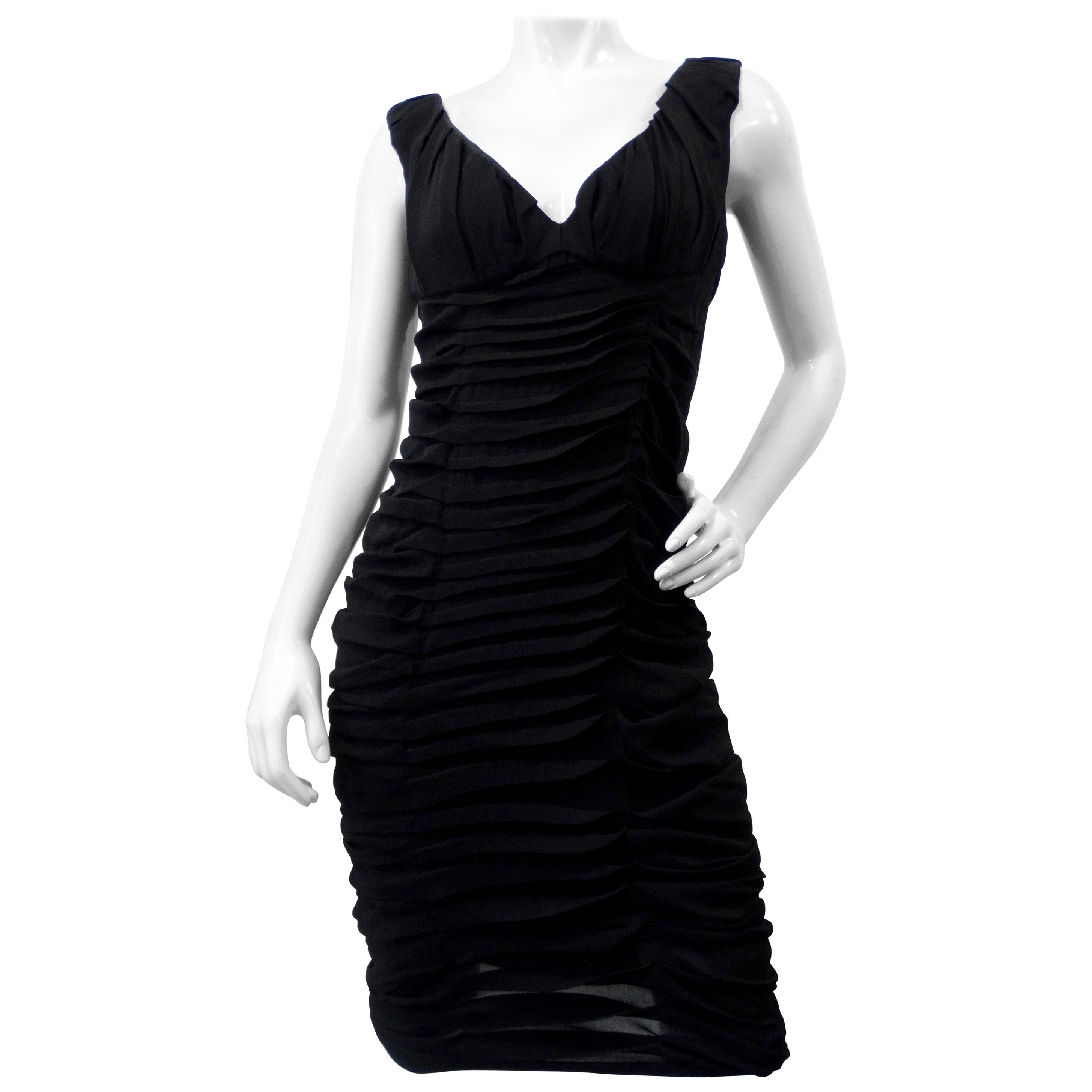 Tom Ford For Yves Saint Laurent 2000s Ruched Cocktail Dress