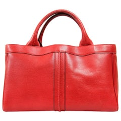2000s Valextra Red Leather Bag