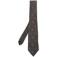 2000s Versace Geometric Pattern Tie