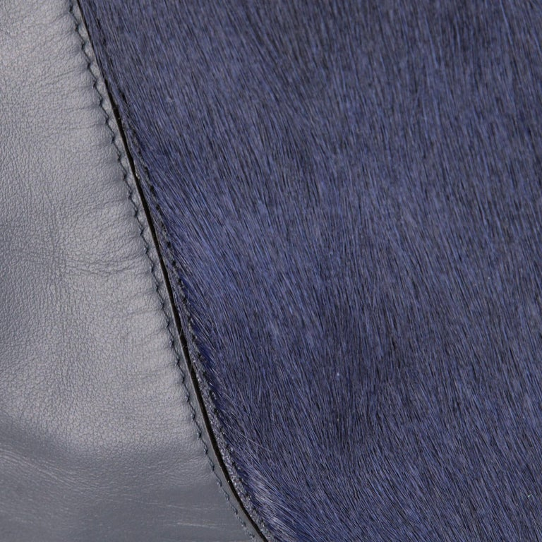 Women's 2000s Vince Blue Calf Hair Bag For Sale