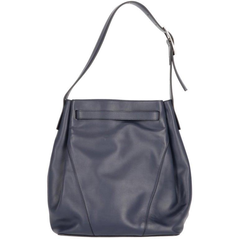 2000s Vince Blue Calf Hair Bag For Sale 2