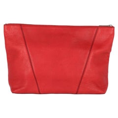 2000s Vince Red Leather Clutch