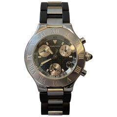 2000s Vintage Cartier Cronoscaph 21 ref 2424