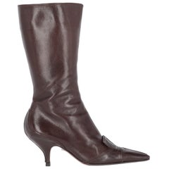 2000s Yves Saint Laurent Brown Leather Boots