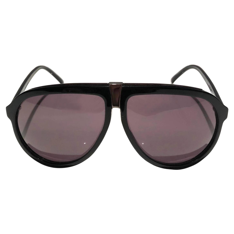 2000s Yves Saint Laurent Oversized Aviator Sunglasses