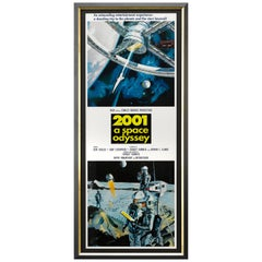 """2001 a Space Odyssey"" 25th Anniversary Movie Poster, circa 1993"