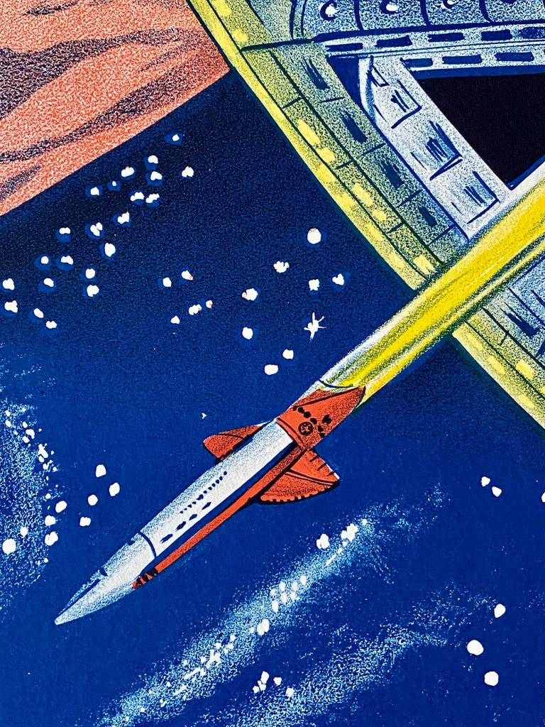 '2001: A Space Odyssey' Original Vintage Australian Daybill Movie Poster, 1968 In Excellent Condition In Devon, GB