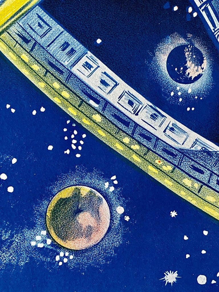 Mid-20th Century '2001: A Space Odyssey' Original Vintage Australian Daybill Movie Poster, 1968
