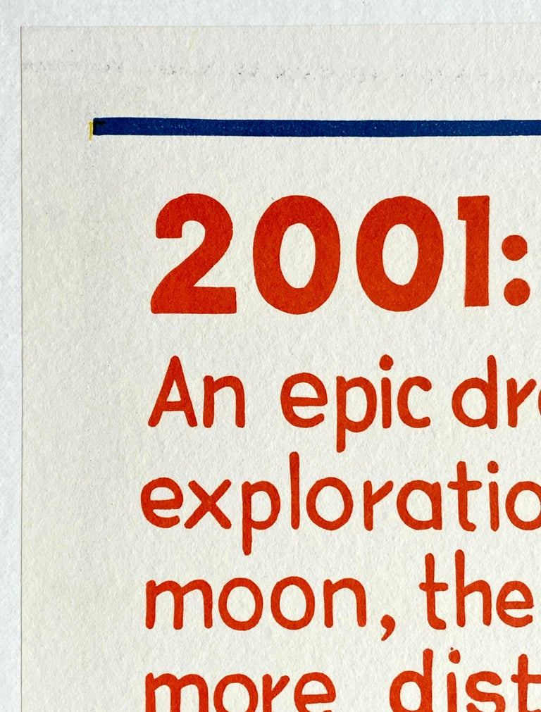 Paper '2001: A Space Odyssey' Original Vintage Australian Daybill Movie Poster, 1968
