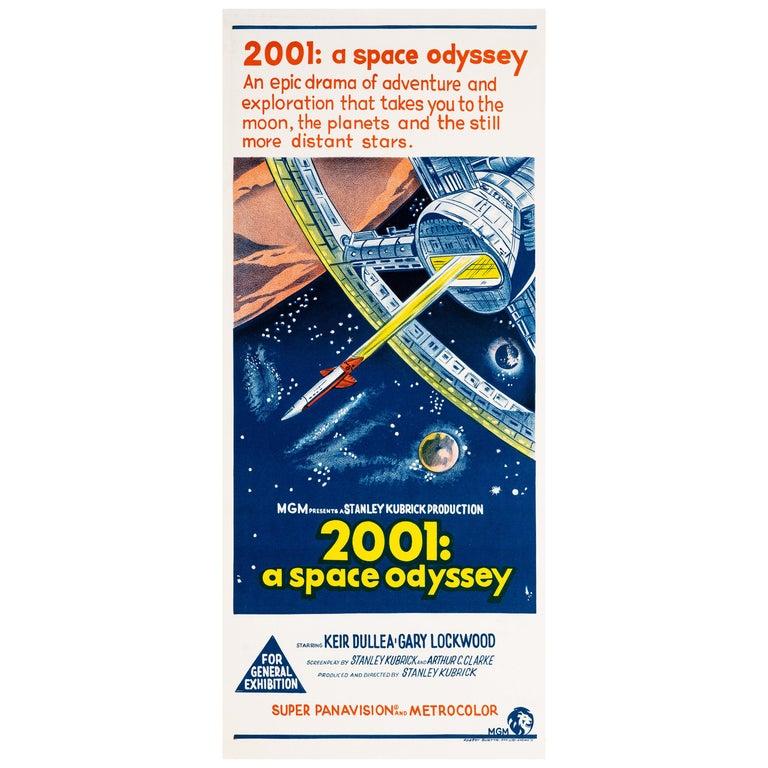 '2001: A Space Odyssey' Original Vintage Australian Daybill Movie Poster, 1968
