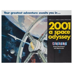 """""""2001 A Space Odyssey"""" UK Film Poster, 1968"""