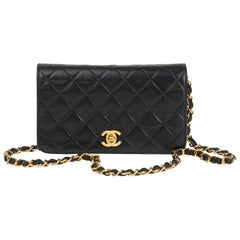 2001 Chanel Black Quilted Lambskin Mini Flap Bag