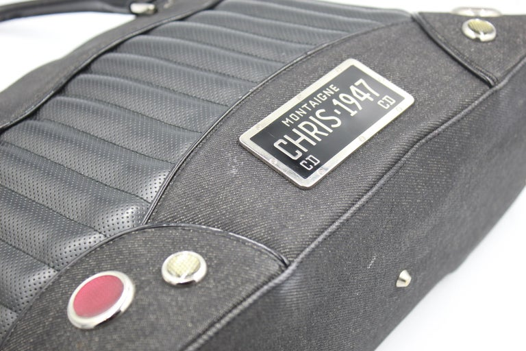 2001 Christian Dior Cadillac Top Handle Bag by John Galliano  For Sale 1