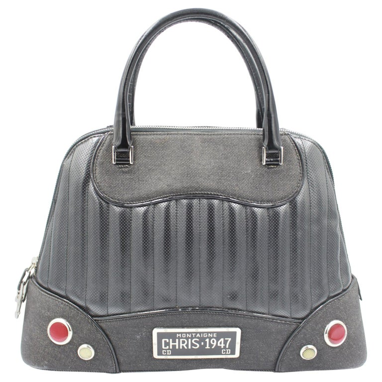2001 Christian Dior Cadillac Top Handle Bag by John Galliano  For Sale