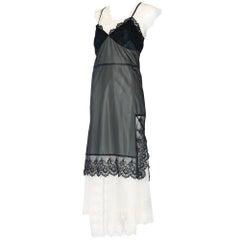 2001 Comme Des Garcons Layered Lace Trim Slip Dress