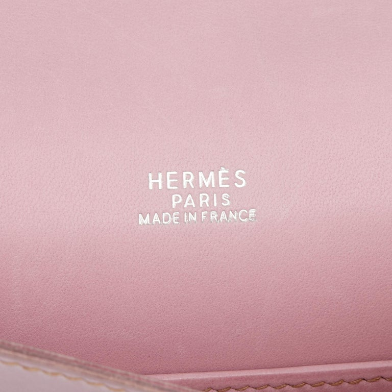 Women's 2001 Hermes Lilac Box Nepal Leather Kelly Longue Clutch For Sale