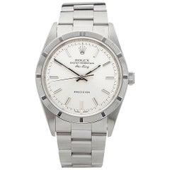 2001 Rolex Air King Stainless Steel 14010 Wristwatch