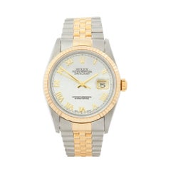 2001 Rolex Datejust Steel and Yellow Gold 16233 Wristwatch