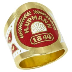 2001 Verdura Enamel and Gold Cigar Band Ring