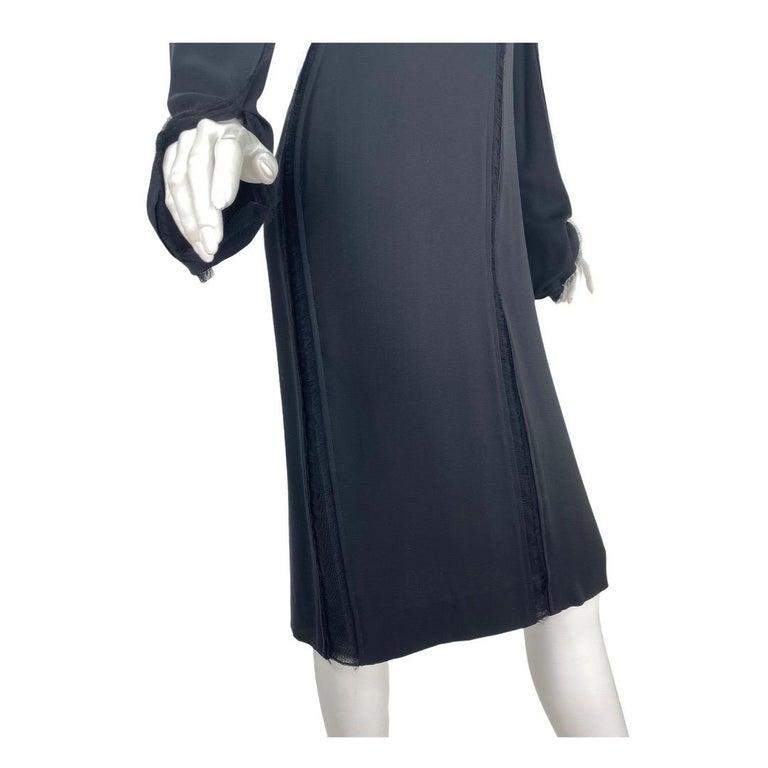 2001 Vintage Tom Ford for Yves Saint Laurent Black Silk Dress For Sale 2
