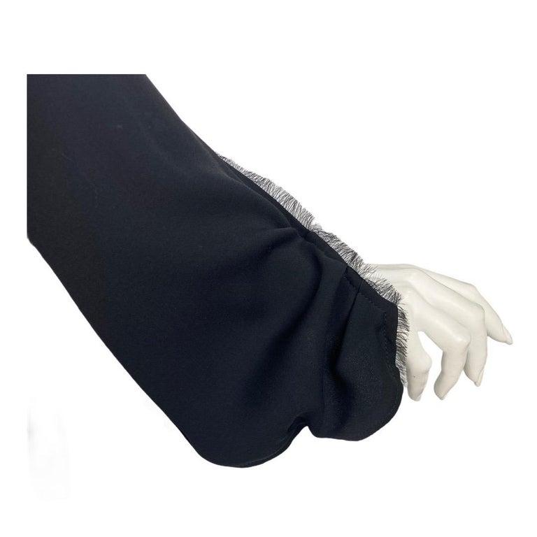 2001 Vintage Tom Ford for Yves Saint Laurent Black Silk Dress For Sale 4