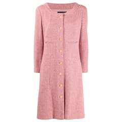 2001s Chanel Pink Cashmere Coat Jacket