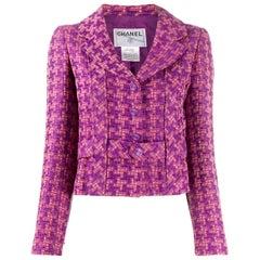 2001s Chanel Pink Jacquard Jacket
