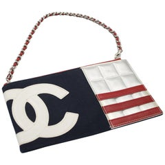 2002 Chanel American Flag Shoulder Bag / Clutch