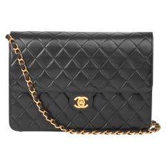2002 Chanel Black Quilted Lambskin Small Classic Single Flap Bag