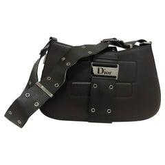 2002 Christian Dior Dark Brown Street Chic Handbag