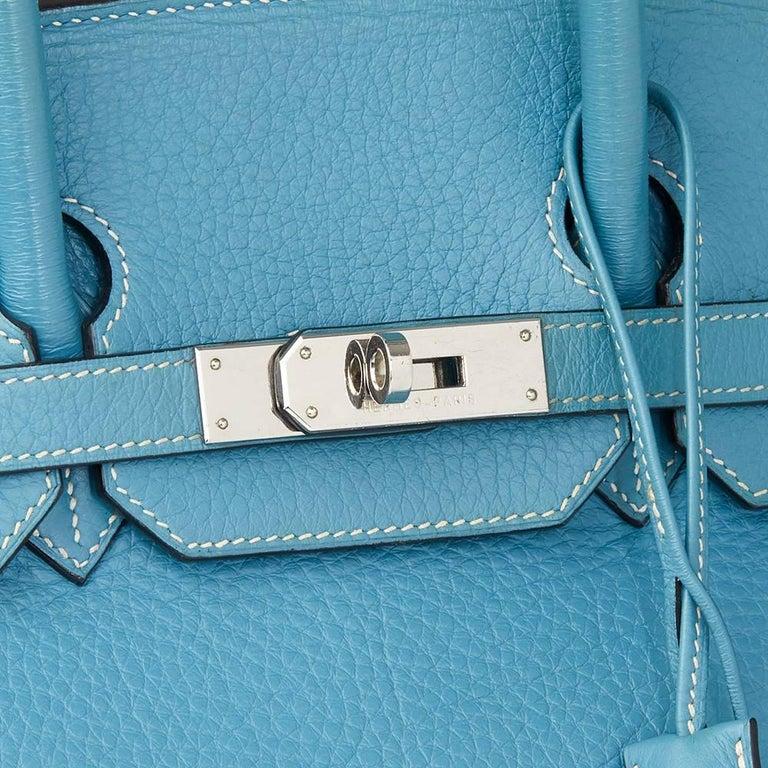 2002 Hermes Blue Jean Fjord Leather Birkin 35cm 1