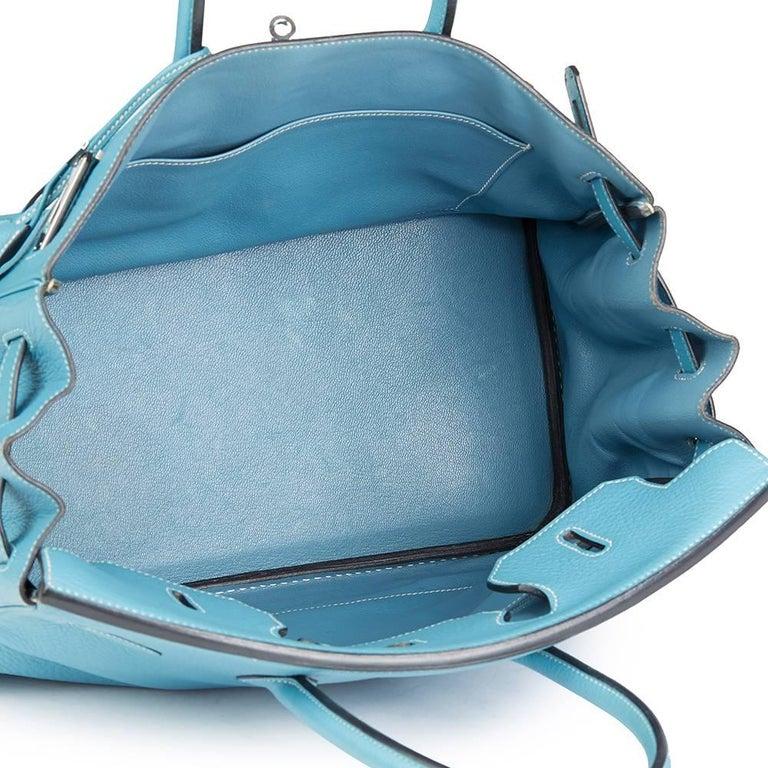 2002 Hermes Blue Jean Fjord Leather Birkin 35cm 4