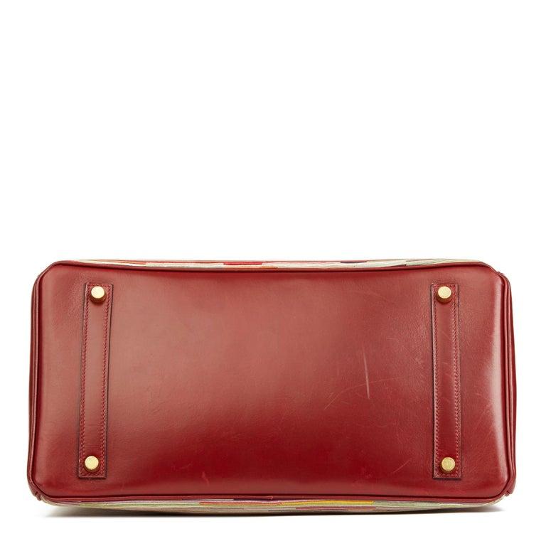 Women's 2002 Hermès Rouge H Box Calf Leather Vibrato Birkin 35cm For Sale