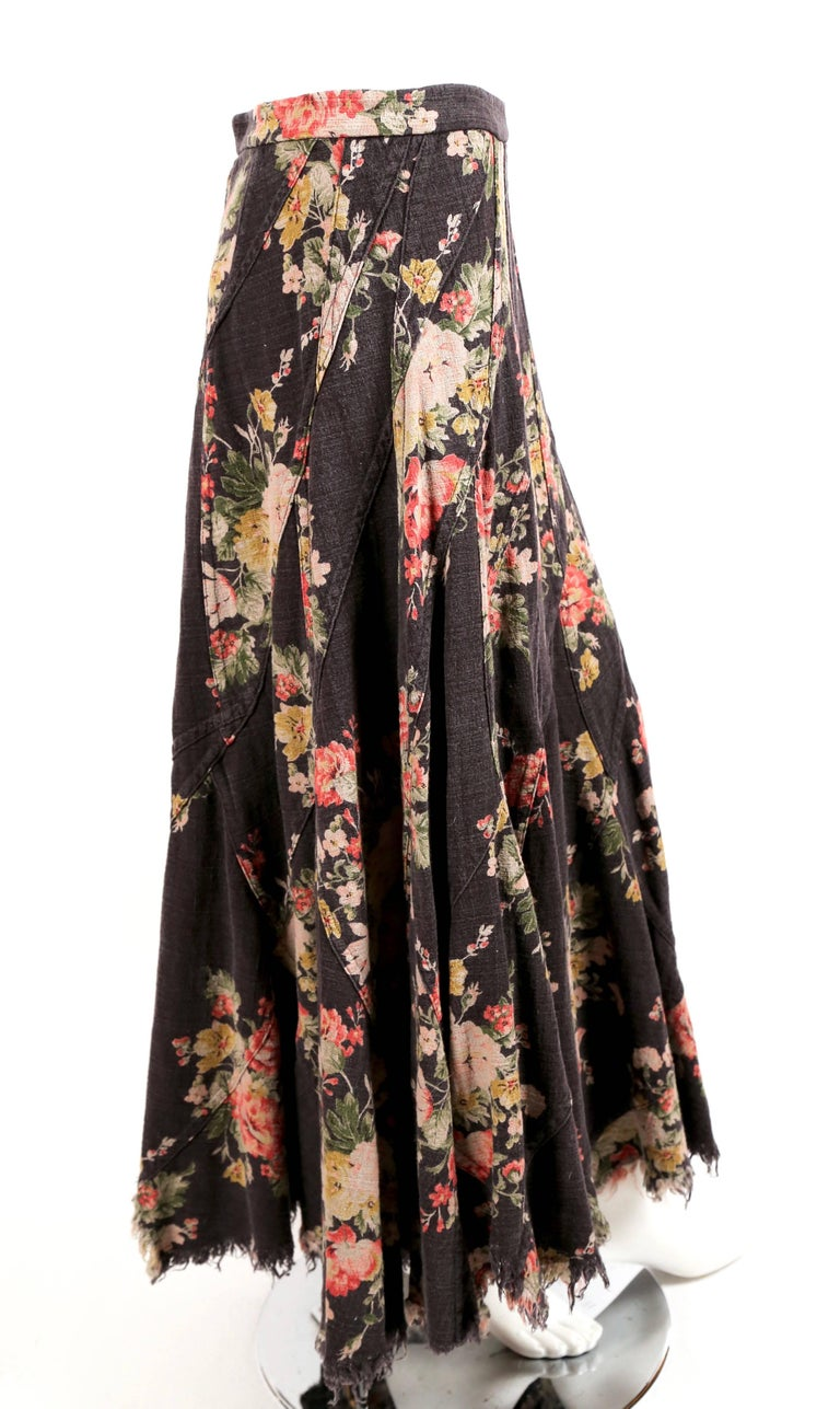 dab6bc0bdb0b ... Des Garcons floral seamed runway skirt For Sale. Floral printed cotton  skirt with amazing seams and frayed hemline designed by Junya Watanabe for  Comme