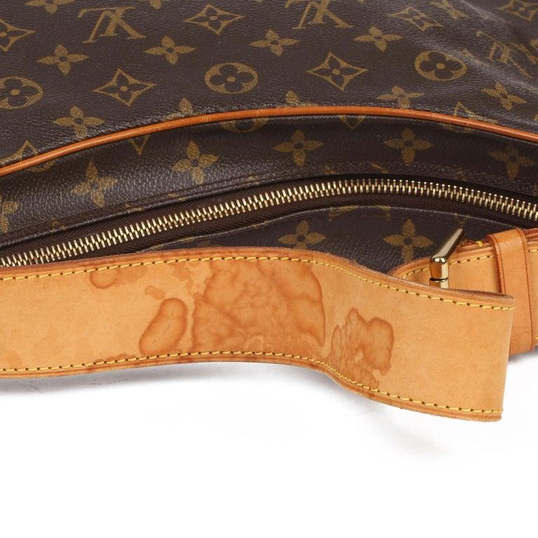 2002 Louis Vuitton Brown Monogram Coated Canvas & Vachetta Leather Croissant GM For Sale 5