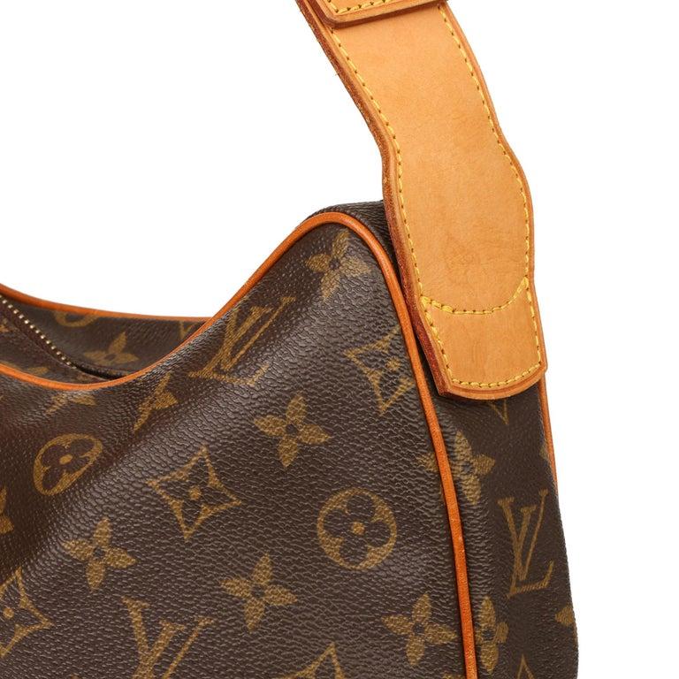 2002 Louis Vuitton Brown Monogram Coated Canvas & Vachetta Leather Croissant GM For Sale 1
