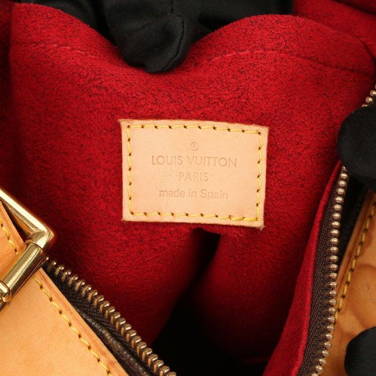 2002 Louis Vuitton Brown Monogram Coated Canvas & Vachetta Leather Croissant GM For Sale 2