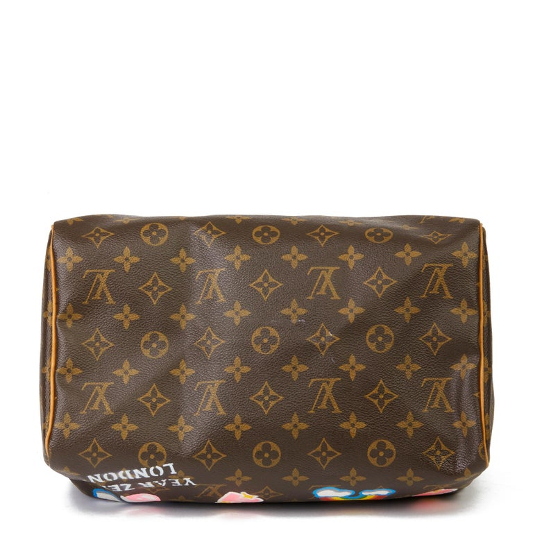 2002 Louis Vuitton Hand-painted  Love is Love Monogram Coated Canvas Speedy 30 For Sale 1