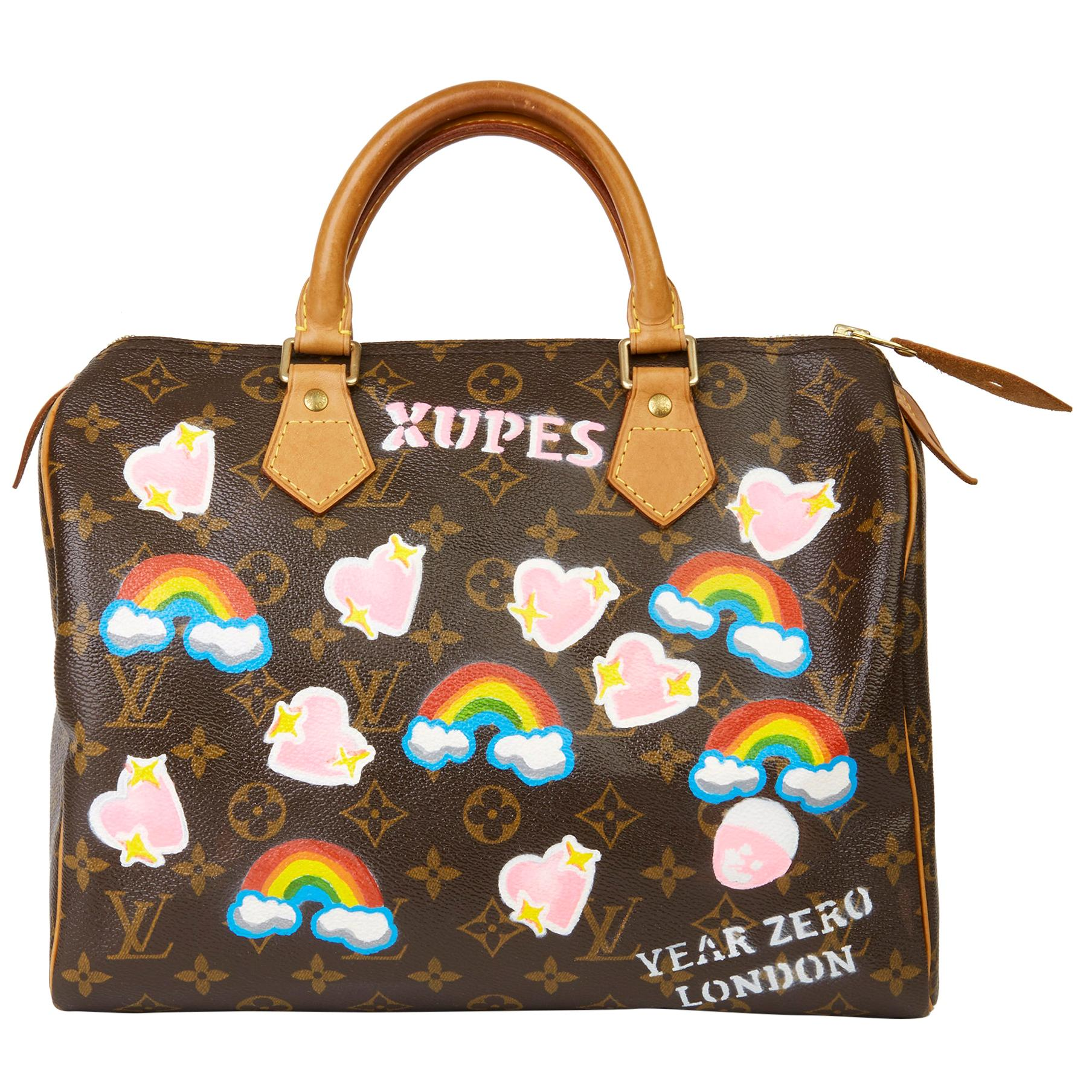 2002 Louis Vuitton Hand-painted  Love is Love Monogram Coated Canvas Speedy 30