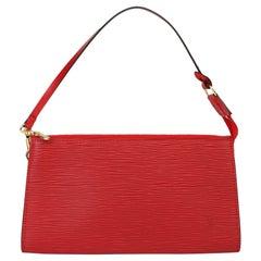 2002 Louis Vuitton Red Epi Leather Vintage Pochette Accessoires