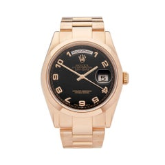 2002 Rolex Day-Date Rose Gold 118205 Wristwatch