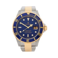2002 Rolex Submariner Steel & Yellow Gold 16613LB Wristwatch