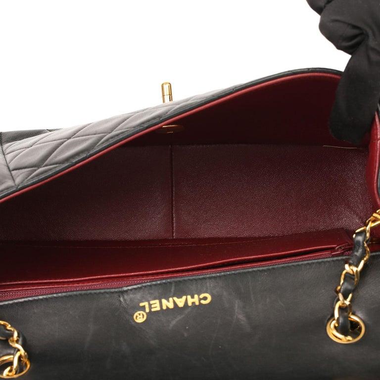 2003 Chanel Black Quilted Lambskin Medium Diana Classic Single Flap Bag 3