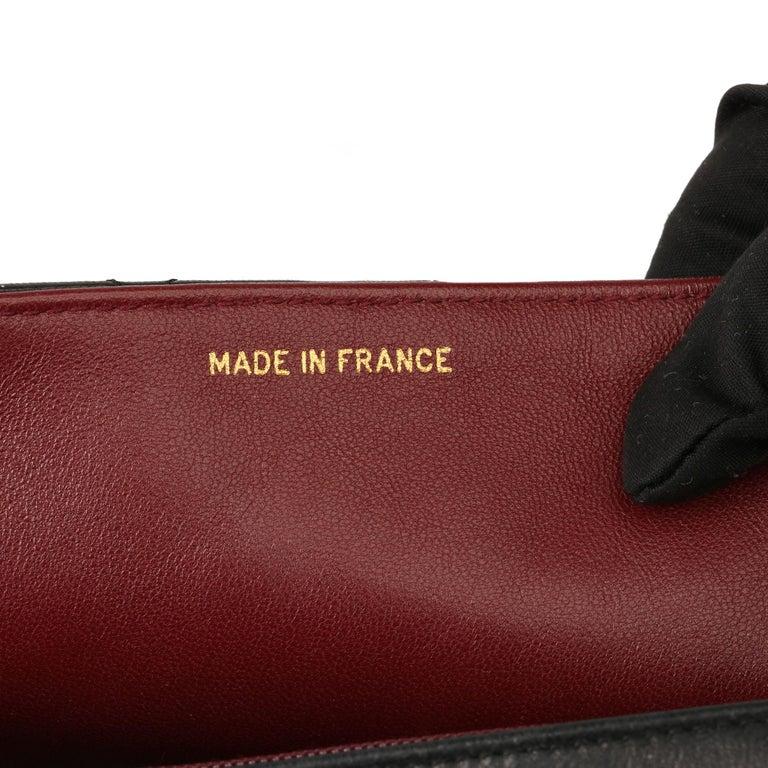 2003 Chanel Black Quilted Lambskin Medium Diana Classic Single Flap Bag 4