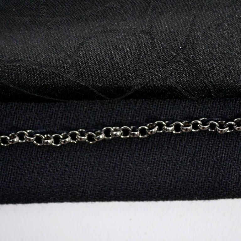2003 Chanel Jacket Black Wool Blazer W Satin Stripes in Size 38 For Sale 11