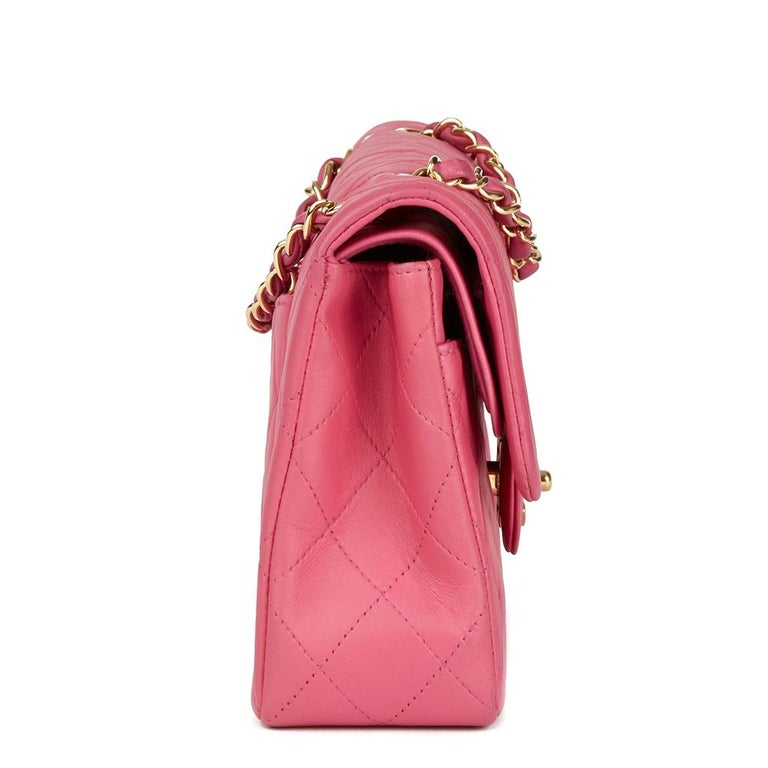 3187cb40 2003 Chanel Pink Quilted Lambskin Small Classic Double Flap Bag at ...